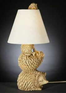 Forest Hedgehog Family Table Lamp 39cm Home Decor NEW Gift Idea