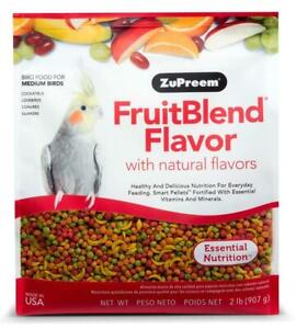 Zupreem FruitBlend Flavor Bird Food Diet for Medium Birds Cockatiels 2 lbs.