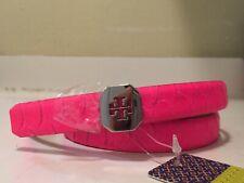 Tory Burch Cara Skinny Belt Energy Pink Size S
