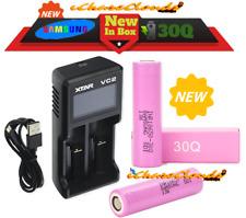 2 Samsung 30Q and XTAR VC2 Charger 18650 HIGH DRAIN 3000Mah Vape Battery