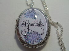 PURPLE ROSE GRANDMA LOCKET