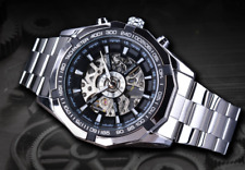 Reloj de pulsera esqueleto Mecánico Automático Reloj para Hombre a cuarzo con cronógrafo de lujo
