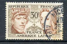 TIMBRE FRANCE OBLITERE N° 1060 AMITIE FRANCE AM. LATINE SCULPTURE PERUVIENNE
