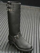 Wesco Boss 16″ Black Leather Lined Boots