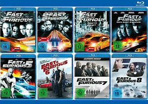 The Fast and the Furious 1-8 [Blu-ray]