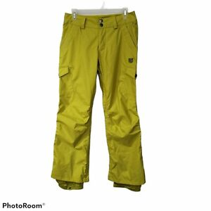 Burton XS Lime Green Dry Ride Snowboard Pants Women's chartreuse cool flavors