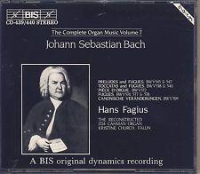 J.S. Bach - Hans Fagius: The Complete Organ Music, Vol. 7 (2 CDs, BIS) Like New
