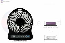 """4"""" Portable Fan Handy Pushchair Fan Rechargeable Cooling Fan Floor Fan 3 Speed"""