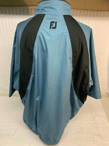 FOOTJOY Size XL Tour Collection Blue Short Sleeve 1/2 Zip Golf Jacket