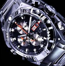 Festina Herren Armband Uhr Schwarz Orange Silber Farben 10Atm Edelstahl Chrono
