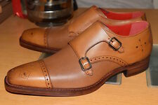 Tan Caviar Monk Shoe by Jeffery West Northampton RRP £340 UK 8