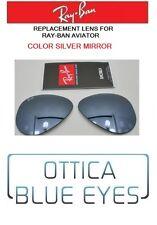 LENTI di Ricambio Sole RAYBAN AVIATOR 3025 Ray Ban Replacement Lenses SILVER