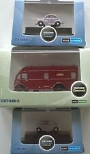 3 x Oxford Diecast N Gauge Scale 1 x BR Albion Horsebox & 2 x Morris Minors New