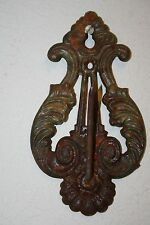 Beautiful Ornate Cast Iron Antique Wall Receipt Note Post Holder Great Patina
