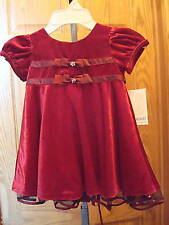 NEW BONNIE BABY RED DRESS CHRISTMAS/HOLIDAY $56 SZ 12M