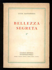 SANTANDREA LUISA BELLEZZA SEGRETA SEI 1953 I° EDIZ.