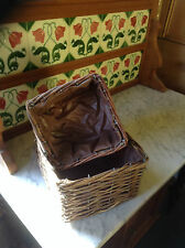 Wood Basket Pair with liners.
