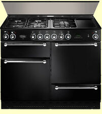 set of 4 NEW BLACK DOOR SKINS FOR RANGEMASTER 110 transform your dreary colour!