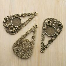 5pcs  antiqued bronze drop cabochon settings G395