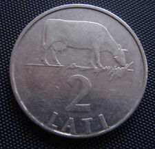 MUCCA COW LATVIA 1992  2 lats / lat  COIN LION & DRAGON RARE first 2 lati coins