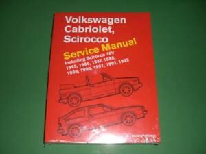 VW Scirocco II Cabriolet Bentley Dealer Repair Manual