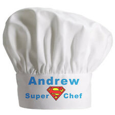 Personalised  Super Chef Hat  Great Christmas gift Full colour printing