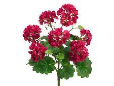 "18"" Geranium Bush  Beauty (Pack of 6) Artificial Flowers Silk Plants"
