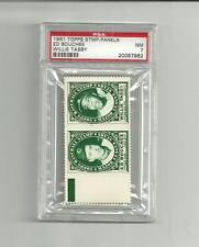 1961 Topps Stamp Panel Bouchee-Tasby PSA 7