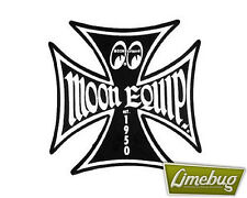 """Mooneyes Black Iron Cross Decal Sticker Stickers Maltese Equipped 3"""" VW Camper"""