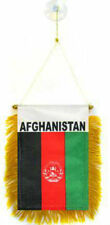 """Wholesale lot 12 Afghanistan Mini Flag 4""""x6"""" Window Banner w/ suction cup"""