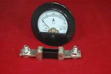 DC 200A Round Analog Ammeter Panel AMP Current Meter Dia. 90mm with shunt