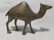 Used solid brass camel figure L17cm