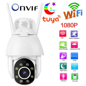 Tuya 1080P HD WiFi PTZ IP Camera Outdoor Waterproof Security CCTV Night Vision