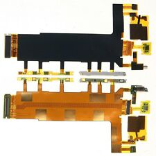 For Sony Xperia Z3 Power Flex Cable Side Buttons Mic Vibrator Replacement D6603