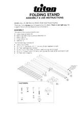 Triton Folding Stand MK3 STA001 Assembly & Use Manual