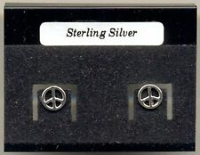 CND Peace Sterling Silver 925 Studs Earrings Carded