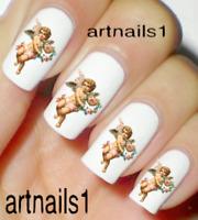 Angel Cherub Nail Art Water Decals Stickers Wedding Manicure Salon Polish Mani