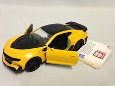 "2016 Chevy Camaro Bumble Bee TRANSFORMERS  Pull Back 5.25"" Diecast 1:32 Jada Toy"
