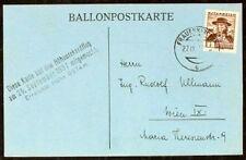 s995) Ballonpost Österreich Höhenrekordflug 25.9.1937 mit OE Marek-Emmer II