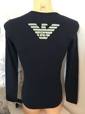 BNWT IN BOX Men's EMPORIO ARMANI Marine Graphic L/Sleeve Crew Tee. Sizes: S-XL
