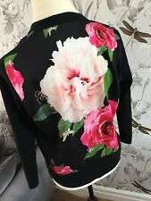 Ted Baker Magnificent Print Back Floral Cardigan BNWTS SIZE 0 Uk 6/8 MONTAYA