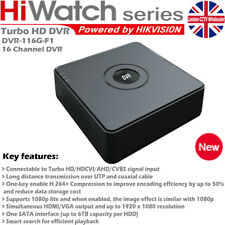 Hiwatch by Hikvision 16 Channel Turbo HD-TVI/AHD DVR With HDMI/VGA- Plastic Case