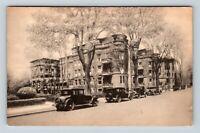 Greenfield MA, Weldon Home Hotel Street View, Vintage Massachusetts Postcard