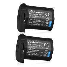 2x LP-E4N LP-E4 Batteries Replacement for Canon EOS 1D mark IV 1D mark III 1DX