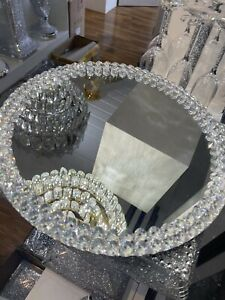 Home Of Sparkles New XXL CRUSHED DIAMOND SPINNING TRAY WEDDING CAKE STAND 15inch
