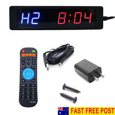 Programmable Crossfit Interval Timer Wall Clock w/Remote For Tabata Fitness