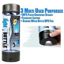 WATER BOTTLE BPA Free Survival LIFE GEAR light bottle LANTERN FLASHLIGHT
