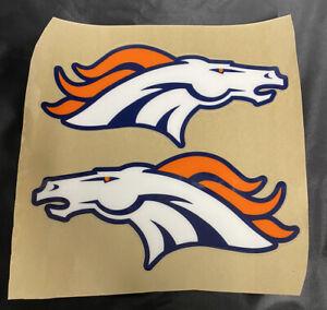 Denver Broncos Full Size Football Helmet Decals 20 Mil Highest Quality !