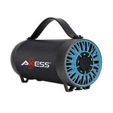 Axess Spbt1056BK Portable Bluetooth Speaker With Built-in USB Support FM Radio