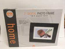 "Digital Photo Frame 16:9 Aspect Ratio  Wood Black Frame Memory Card Slot 7"""